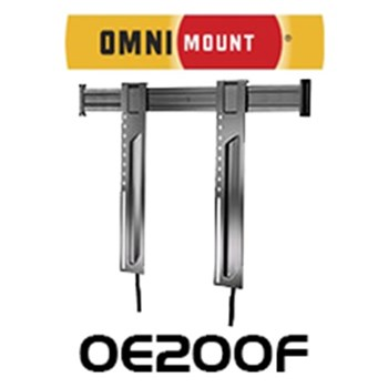 "Omnimount 52"" - 90"" LARGE FIXED PANEL DISPLAYBRACKET BLACK 90KG MAX, 400X600 VESA"